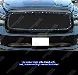 APS Compatible with Dodge Ram 1500 2013-2018 & 19-21 Classic Main Upper Stainless Black Rivet Studs Mesh Grille Insert DL5986H