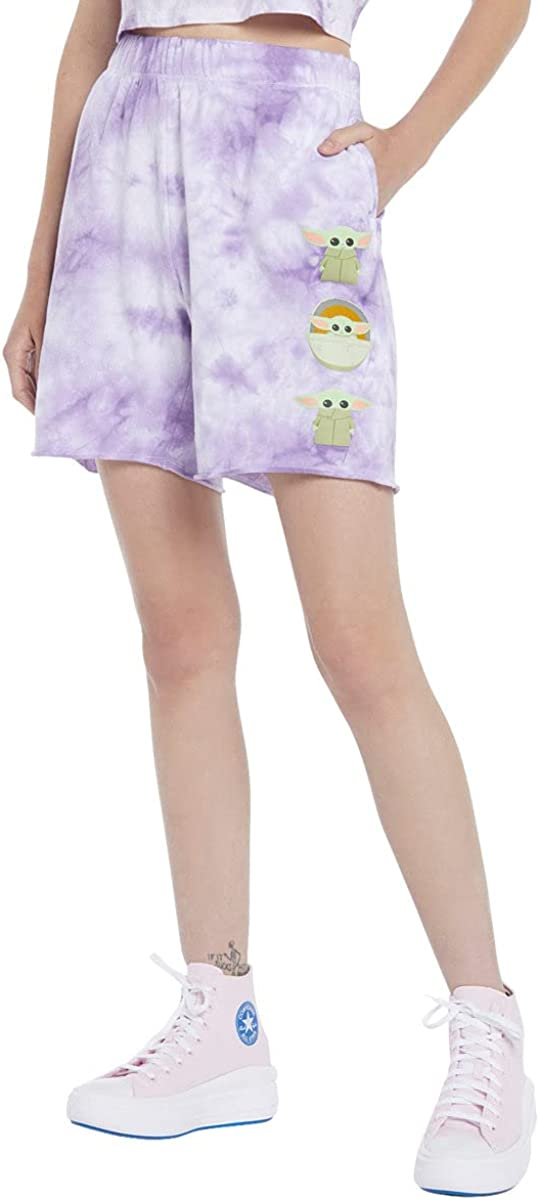 Star Wars The Mandalorian The Child Tie-Dye Girls Lounge Shorts