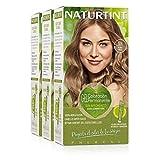 Naturtint Coloración 8N Rubio Trigo, 100% Cobertura de canas y Hidratación, Ingredientes Vegetales y Aceites 100% Biobotánicos, Color Natural y Duradero, Sin Amoniaco, Parabenes, Siliconas, Pack de 3.