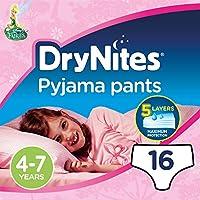 DryNites - Braguitas absorbentes para niñas de 4 – 7 años, 16 unidades