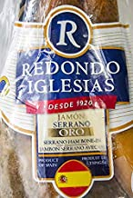 Jamon Serrano - Oro Reserva - Bone In 17-18 Lb - 20 months aged - Dry cured Ham - Spain Gourmet Delicatessen - 1 unit
