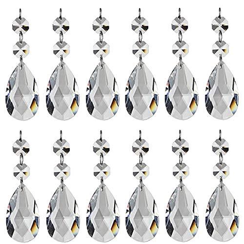 12pcs cristalinos de la lágrima de la lámpara Prismas Colgantes Piezas Granos por un Techo de Las gotitas de luz Refracción, Boda, joyería, Bricolaje Art Projects
