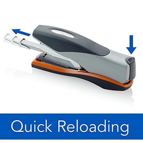 Swingline Stapler, Optima 40, Full Strip, Desktop Stapler, 40 Sheet Capacity, Reduced Effort Stapler for Office Desk Accessories and Home Office Supplies, Orange/Silver/Black, Full Size (87845) Photo #3
