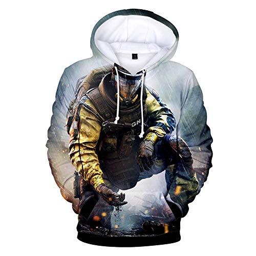Qian Qian Unisex Cosplay Hoodie 3D Druck Pullover Sweatshirt Jacke Halloween Kostüm (XL, 10)