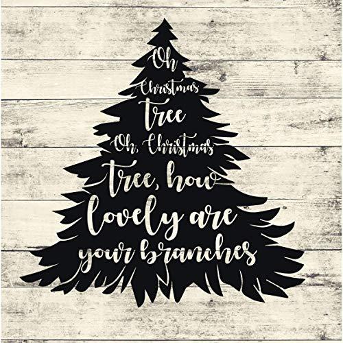 Wandaufkleber, Motiv: Oh Weihnachtsbaum, PVC, Dekoration für Wohnzimmer oder Zuhause