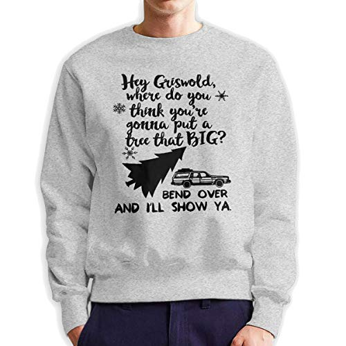 MYHL Men's Griswold Christmas Vacation Christmas Fashionable Casual Style Crew Neck Cotton Sweatshirt Hoodie