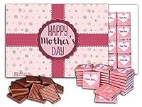 母の日おめでとう、 ビッグチョコレートギフトセット、 1箱24枚入り、 25x18cm, HAPPY MOTHER'S DAY Big Box (Pink Ribbon)