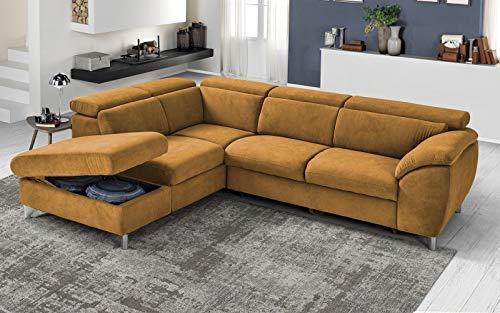 Canapé d'angle 3 places Rouge Tissu Luxe Design