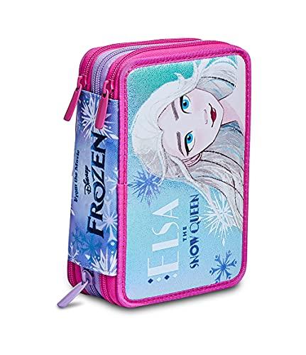 Astuccio Scuola 3 Zip Completo Organizzato Frozen Spirit Of Adventure