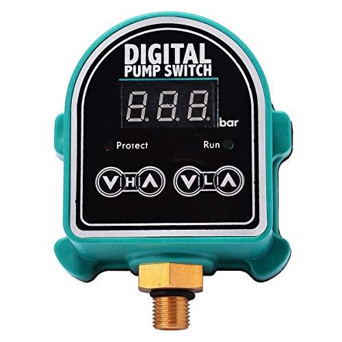 YUQIYU Digital LCD Bombas de agua Interruptor de presión Gas de jardín Controlador Eletronic Control Interruptor de control para suministros de bomba de agua