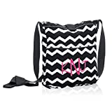 Thirty One Retro Metro Crossbody - Black Chevron - 3972 no monogram