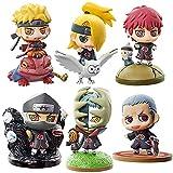 6 Piezas Anime Naruto Namikaze Figura Minato Jiraiya Uzumaki Uchiha Sasuke Itachi Madara Figuras De Acción 6Cm PVC Kawaii Mini Muñeca Modelo Juguetes