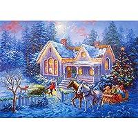 5Dフルダイヤモンド芸術刺繍DIYクラフトセットの芸術の装飾でペイント、ダイヤモンドクリスマスサンタクロースとクリスマスハットによってナンバーキット絵画ドリル B-Round diamond