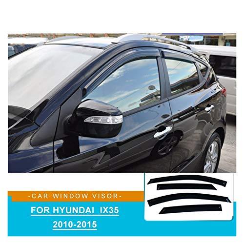 JIUTAI Windabweiser Für Hyundai IX35 2010 2011 2012 2012 2013 2014 2015 Seitenfenster Deflektor Sun Rain Wind Deflector Fenstervisier Zubehör Rauchabzug Schatten