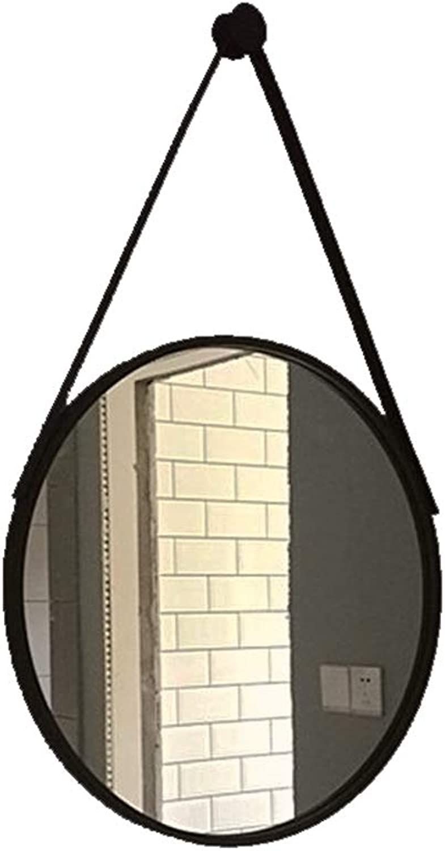 Iron Wall Hanging Mirror Round Makeup Mirror (Size   40cm)