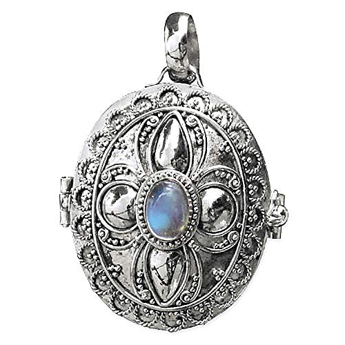 Medaillon zum Öffnen 925 Sterling Silber mit Mondstein