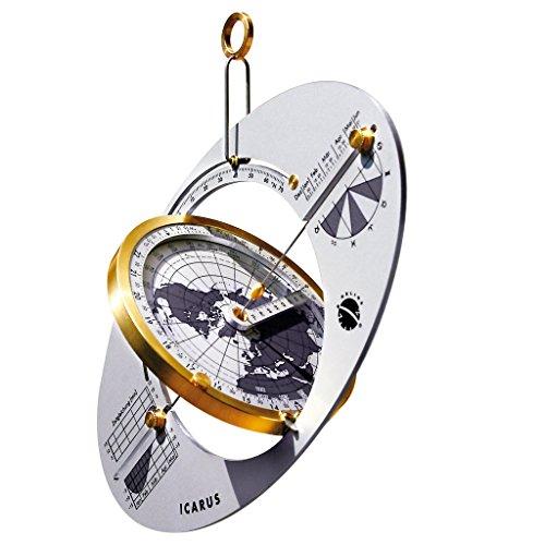 HELIOS Sonnenuhren Icarus Weltzeit-Reise-Sonnenuhr, Sonnenkompass und Navigator
