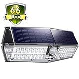 Solarleuchte Außen【NEUE VERSION】Mpow 66 LED Solarlampen für Außen IP67 Wasserdicht 120 ° Weitwinkel Sensorkopf Solarleuchte mit Bewegungsmelder Superhell Solarlampe für Garten, Garage, Balkon, Hof
