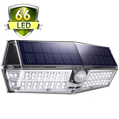 Solarleuchte Außen, Mpow 66 LED Solarlampen für Außen IP67 Wasserdicht 120 ° Weitwinkel Bewegungssensor Solarleuchte mit Bewegungsmelder Superhell Solarlicht für Garten, Garage, Balkon, Hof