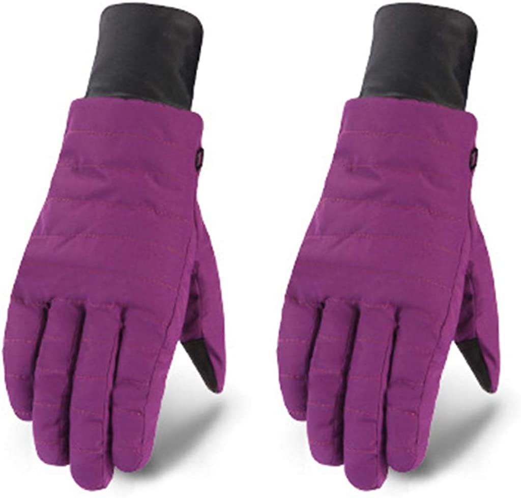 Dsxnklnd Women Winter Waterproof Snow Ski Gloves Colored Stripes Thermal Non-Slip Mittens