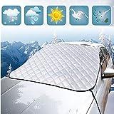 Minleer Copertura Parabrezza Auto, Magnetico Copri Copertura Antigrandine per Auto, Anti-Ghiaccio Anti-Neve Anti-Gelo Anti-UV Protegge Adatto per Inverno/Estate, 193 * 157 * 126 CM (Fit SUV)