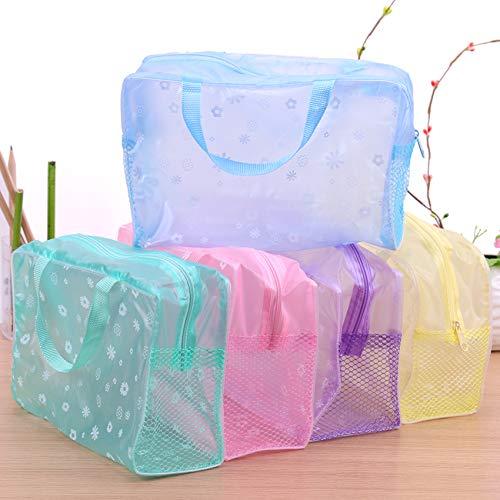 Bingpong Lot de 5 trousses de toilette étanches et mignonnes Transparent