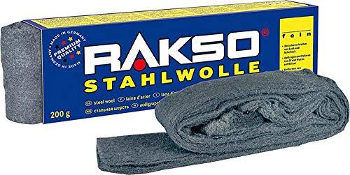 RAKSO Stahlwolle 200g 0000 extrem fein