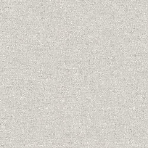 rasch Tapete 448610 aus der Kollektion Florentine II – Einfarbige Vliestapete in zartem Grau – 10,05m x 53cm (L x B)