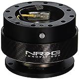 NRG Gen 2.0ステアリングホイールクイックリリースキット カーボンファイバーリング付きブラックボディ(Part: SRK-200CF)