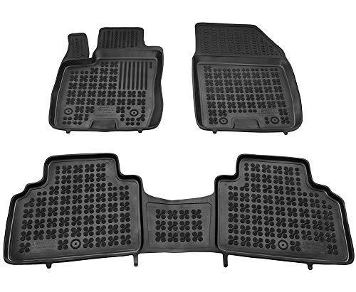 Alfombrillas de Goma Compatible con Ford TOURNEO COURIER (desde 2014) + Limpiador de Plasticos (Regalo) | Accesorios Coche Alfombrilla Suelo