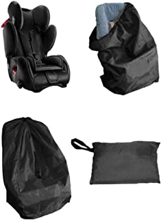 Universal Child Safety Seat Travel Bag Car Seat Cover with Shoulder Straps Storage Dust Cover Fits All Car Seats Black