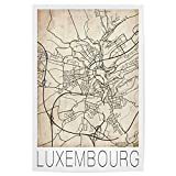 artboxONE Poster 75x50 cm Städte Luxembourg City Map