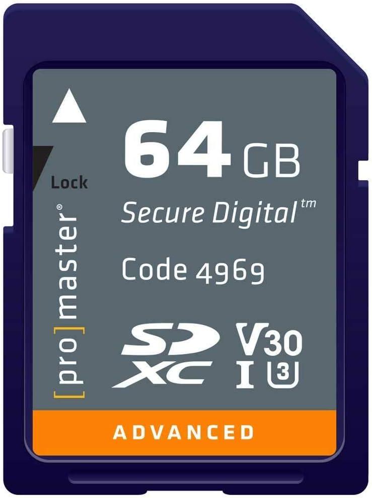 Promaster ADVANCED SDHC 64GB Memory Card 633X U3 V30