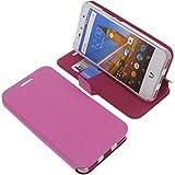foto-kontor Tasche für Wileyfox Swift 2X Book Style pink