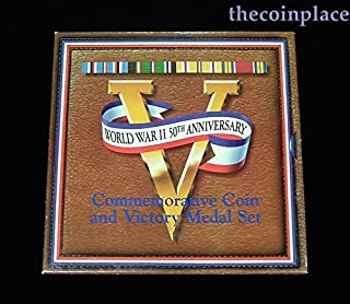 1993 P 1991-1995 World War II 50th Anniversary Coin & Victory Medal Set Uncirculated