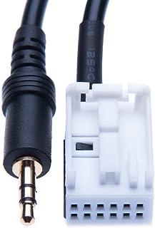 3.5mm Aux Audio Input Cable Plug Car Adapter Compatible with Citroen C2, C3,