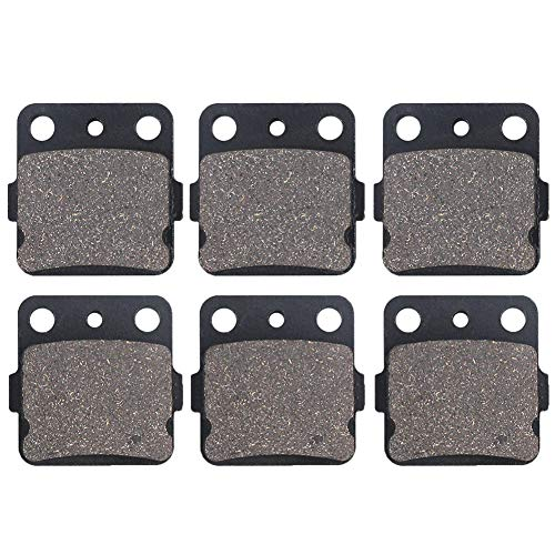 Cyleto Front and Rear Brake Pads For Honda TRX400X TRX 400X 2009-2014 / TRX400EX TRX 400EX Sportrax 400 2001-2008 / TRX400 EX Fourtrax 1999 2000 / TRX300EX Fourtrax 300 1993-2008 / TRX250X 1987-1992