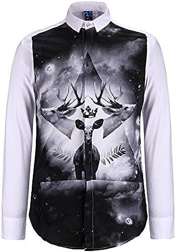 MAYUAN520 Chemises Chemise homme Mode Nouvelle Méduse shirt Impression 3D Boy Top Tee Shirt DC Comics Loisirs camisa masculine chemise homm Shirts,Beige,L