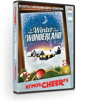 AtmosFX Winter Wonderland Digital Decorations DVD for Winter and Christmas Holiday Projection Decorating