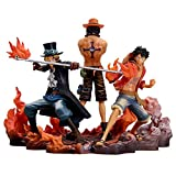 WQJJ One Piece Brothers Figure Set of Luffy Ace Sabo