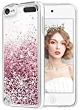 wlooo Coque pour iPod Touch 5/6/7, iPod Touch 5 Silicone Coque, iPod Touch 6 Glitter Liquide Paillette Protection TPU...