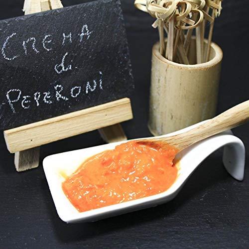 CiboCrudo Crema di Peperoni Cruda Bio, Perfetta per Condire Pasta Risotti Crostini e Bruschette, Spalmabile, Contiene 98% di Peperoni, Come Fatta in Casa – 180 gr