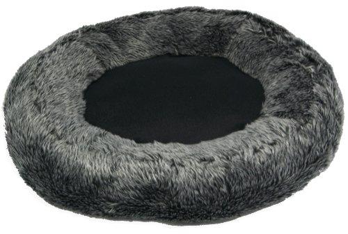 Mikki Panier en peluche pour chat (Anthracite)