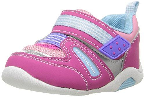 TSUKIHOSHI Girl's Neko Sneaker, Fuchsia/Light Blue, 5 M US Toddler