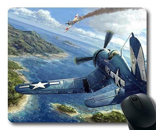 Weltkrieg Flugzeuge, Mausmatte, g Fighters rtv, Mauspad mit genähten Kanten