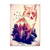 Nordic Wall Art Canvas Painting Pictures HD Prints Abstract Tiger Lion Fox Raccoon Home Decor Poster For Living Room Modular No Frame