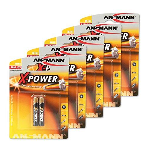 Ansmann 1510-0005 / 10x AAAA (LR61) - Pila alcalina / 1,5V