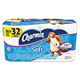 Charmin 15584 Ultra Soft Bathroom Tissue, 2-Ply, 4 x 3.92, 142 Sheets per Roll (Pack of 16 Rolls)