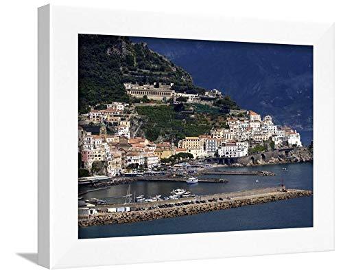 ArtEdge View, Amalfi Coast, Campania, Italy, Europe Wall Art Print, 9 x 12, White Frame-Unmatted