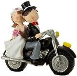 Jullar TG 9005 Tortendekoration, Brautpaar auf dem Motorrad